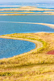 Tuzla spit top view coast of Crimea Russia's Taman Peninsula Stock Photo