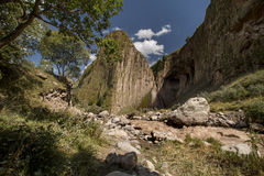 Tuzlukshapa góry i siklawy rzeka Malka Obrazy Stock