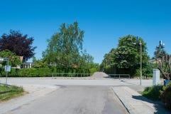 Tvärgata i Allerod i Danmark Arkivbild