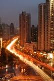 tvärgator shanghai Arkivbild