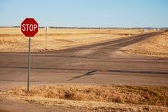 tvärgator undertecknar stoppet Fotografering för Bildbyråer