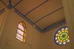 Tvärskepptak av kyrkan av helgonet Francis Xavier Melaka Malaysia royaltyfri fotografi