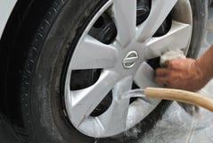 Tvätt av en bil Arkivbild