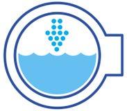 tvätt för luckasymbolsmaskin royaltyfri foto