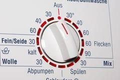 tvätt för visartavlamaskintemerature Arkivfoton