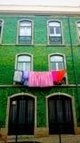 Tvätt i Lissabon Royaltyfria Bilder