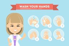 Tvätta dina händer Arkivbild