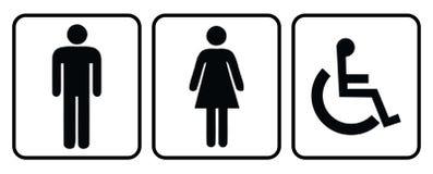 Tvätta sig rum-vilar rumsymbolen stock illustrationer