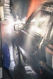 Tvättande bil Fotografering för Bildbyråer