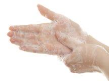 Tvättande händer Fotografering för Bildbyråer