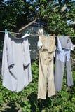 tvättat plagg Royaltyfri Foto