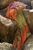 Tvättat upp fisknät Royaltyfri Foto