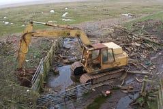 Tvättat upp grävaren Royaltyfria Bilder