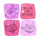 Tvättbjörn design för nytt år royaltyfri illustrationer