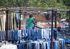 tvätteri Dkhobi Gkhat Mumbai Royaltyfri Foto