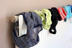 Tvätteri- eller tvagninguttorkning på ett inhemskt element royaltyfri bild