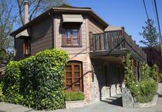 Tvätteri för restaurang för tre Michelin Stars fransk i Yountville, Napa Valley Royaltyfri Bild