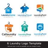Tvätteri Logo Template Design Vector Royaltyfri Illustrationer