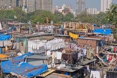 Tvätteri Mumbai för öppen luft Fotografering för Bildbyråer