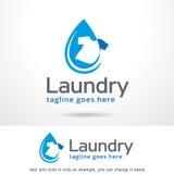 Tvätterifärg Logo Template Design Vector Stock Illustrationer