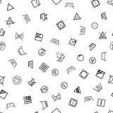 Tvätterisymboler på sömlös vit bakgrund royaltyfri illustrationer