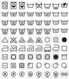Tvätterisymboler, tvättande symboler Fotografering för Bildbyråer