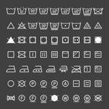 Tvätterisymbolsamling royaltyfri illustrationer