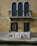 Tvätteriuttorkning - Venedig Italien Royaltyfri Bild