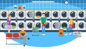 tvättinrättning Stock Illustrationer