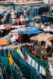Tvättinrättning för öppen luft för Dhobi ghat i Mumbai, Indien royaltyfria foton