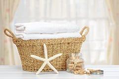 Tvättkorg Arkivfoto