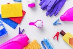Tvättmedel för att göra ren och att ta bort fläckar Närbild arkivbild