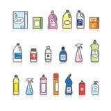 Tvättmedeluppsättning Arkivbild