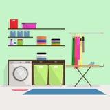 Tvättstuga stock illustrationer