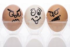 Två äggtecken Arkivfoto