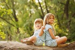 Två älskvärda lilla systrar Royaltyfri Bild