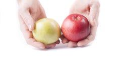 Två äpplen Arkivbilder
