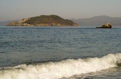 Två öar Fotografering för Bildbyråer