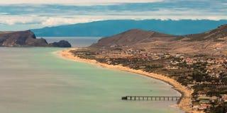 Två öar, Porto Santo And Madeira Arkivfoto
