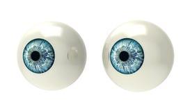 Två ögonglober på vit Arkivfoton