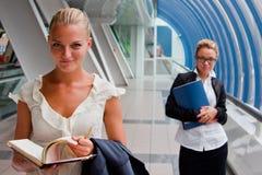Två affärskvinnor fotografering för bildbyråer