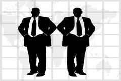Två affärsmän Arkivfoto