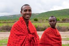 Två afrikanska manar Fotografering för Bildbyråer