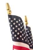 Två amerikanska flaggan Royaltyfri Foto