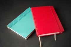 Två anteckningsböcker royaltyfri bild
