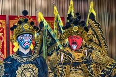 Två asiatiska wushuaikidovarriors Royaltyfri Fotografi
