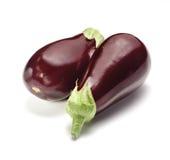 Två aubergine Royaltyfri Fotografi