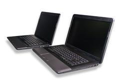 Två bärbar dator Arkivfoto