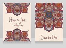 Två baner för zigenskt stilbröllop med härligt snör åt prydnaden Fotografering för Bildbyråer