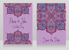 Två baner för zigenskt stilbröllop med härligt snör åt prydnaden Royaltyfri Fotografi